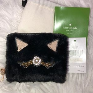 NWT Kate Spade Dani Brighton Lane Cat meow Wallet